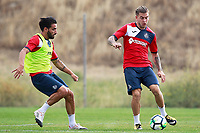 Getafe CF's Chuli (l) and  Alvaro Jimenez during training session. August 1,2017.(ALTERPHOTOS/Acero) /NortePhoto.com