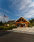 Visitors Center, Schoodic Woods campground, Acadia National Park, Maine, USA