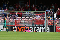James O'Brien of Notts County scores an own goal for Ebbsfleets second goal during Ebbsfleet United vs Notts County, Vanarama National League Football at The Kuflink Stadium on 24th August 2019
