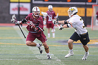 Towson, MD - May 6, 2017: UMASS Minutemen Grant Consoletti (10) in action during game between Towson and UMASS at  Minnegan Field at Johnny Unitas Stadium  in Towson, MD. May 6, 2017.  (Photo by Elliott Brown/Media Images International)