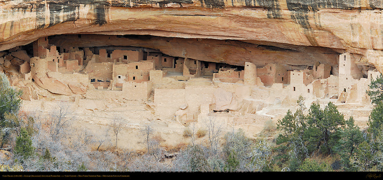 Cliff Palace Cliff Dwelling, Anasazi Hisatsinom Ancestral Pueblo Site, Cliff Canyon, Mesa Verde National Park, Colorado