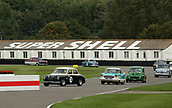 10th September 2017, Goodwood Estate, Chichester, England; Goodwood Revival Race Meeting; Cars make their way to the grid