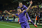 26.02.2015. Florence, Italy. Europa League Football. Fiorentina versus Tottenham Hotspur.  1-0 Goal celebration from Joaquin with scorer Gomes