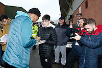 Leroy Fer of Swansea City signs autographs during The Emirates FA Cup match between Notts County and Swansea City at Meadow Lane, Nottingham, England, UK. Saturday 27 January 2018