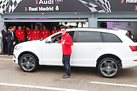 Real Madrid player Jose Callejon participates and receives new Audi during the presentation of Real Madrid's new cars made by Audi at the Jarama racetrack on November 8, 2012 in Madrid, Spain.(ALTERPHOTOS/Harry S. Stamper) .<br />