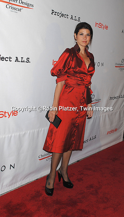 Marisa Tomei..posing for photographers at The Project ALS 10th Anniversary  celebration on October 16, 2007 at ..The Waldorf Astoria in New York. ..Robin Platzer, Twin Images