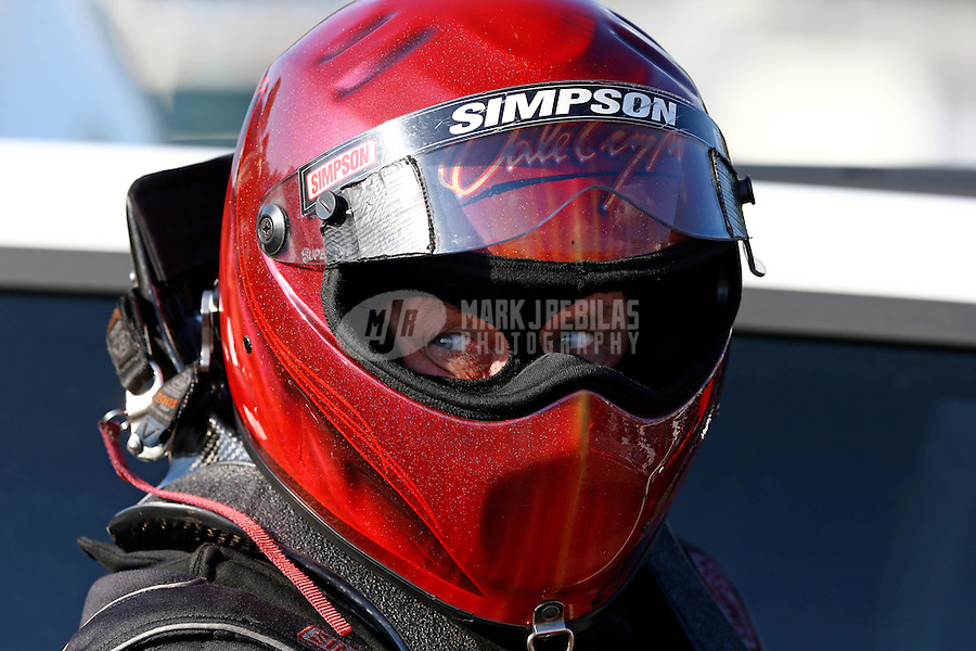 Aug. 16, 2013; Brainerd, MN, USA: NHRA funny car driver Dale Creasy Jr during qualifying for the Lucas Oil Nationals at Brainerd International Raceway. Mandatory Credit: Mark J. Rebilas-