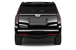 Straight rear view of 2017 Cadillac Escalade-ESV Luxury 5 Door SUV Rear View  stock images