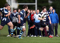 Saturday 3rd March 2012; Connor Guiney in action during the Medallion Shield semi-final between Wallace High School and Dromore High School at Osborne Park, Belfast. <br /> Picture credit: John Dickson / DICKSONDIGITAL