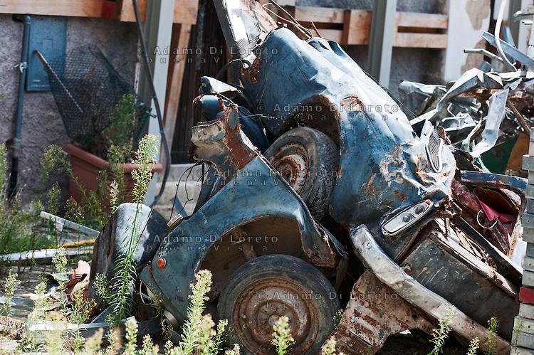 L'AQUILA: NELLA FOTO LA CITTA' DI SANT EUSANIO DOPO IL TERREMOTO. THE SANT EUSANIO CITY AFTER THE EARTHQAKE  FOTO ADAMO DI LORETO