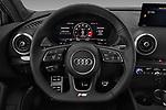Car pictures of steering wheel view of a 2018 Audi S3 Sportback Base 5 Door Hatchback