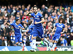 Chelsea's Cesc Fabregas celebrates scoring his sides opening goal during the Premier League match at the Stamford Bridge Stadium, London. Picture date: April 1st, 2017. Pic credit should read: David Klein/Sportimage via PA Images
