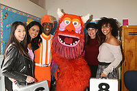 LOS ANGELES - MAR 1:  Lance Robertson, DJ Lance Rock, Yo Gabba Gabba Characters, Patricia Kara, Deal or No Deal Models at the Read Across America Event at the Ardella B. Tibby K – 8 School on March 1, 2019 in Compton, CA