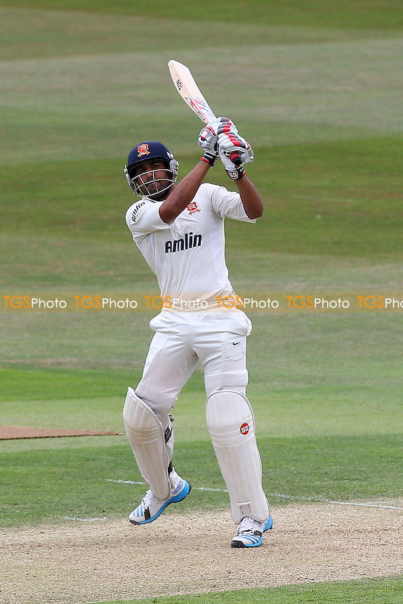 Ravi Bopara hits six runs for Essex - Essex CCC vs Gloucestershire CCC - LV County Championship Division Two Cricket at the Ford County Ground, Chelmsford - 01/07/14 - MANDATORY CREDIT: Gavin Ellis/TGSPHOTO - Self billing applies where appropriate - contact@tgsphoto.co.uk - NO UNPAID USE