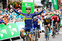 Picture by Simon Wilkinson/SWpix.com - 08/09/2017 - Cycling - OVO Energy Tour of Britain - Stage 6, Newmarket to Aldeburgh - Orica Scott's Caleb Ewan takes the victory at Stage 6 of the Tour of Britain.