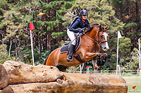 Ava Berry rides Meersbrooke Irish Jig during the Cross Country for Class 3A NZPCA 80cm. Final-3rd. 2019 NZL-Hunua Pony Club 2DE. Proudly Sponsored by Golden Horse Feeds and Christophe Pallies. Sunday 3 February. Copyright Photo: Libby Law Photography