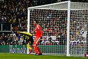 6th December 2017, Santiago Bernabeu, Madrid, Spain; UEFA Champions League football, Real Madrid versus Dortmund; Pierre Emerick Aubameyang (17) Borussia Dortmund 09 celebrates after scoring his team´s goal for 2-1