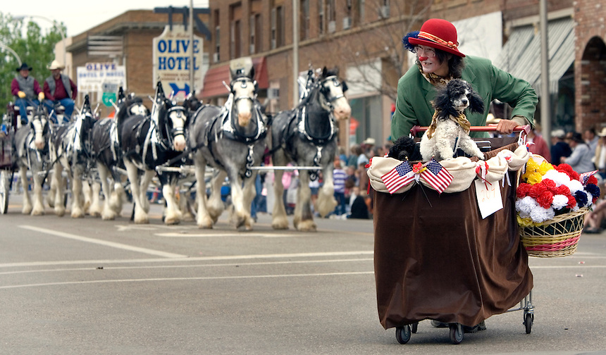 The Parade before the Miles City Bucking Horse Sale parade in downtown Miles City Mont., Sat., May 19, 2007.