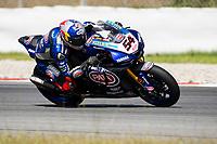 9th July 2020; Circuit de Barcelona Catalunya, Barcelona, Spain; FIM Superbike World Championship Test, Day Two; Toprak Razgatlioglu of the Pata Yamaha WORLDSBK Team rides the Yamaha YZF R1