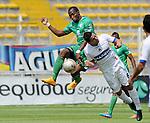 Un gol en tiempo de reposición le valió a La Equidad para evitar una caída en su patio, este domingo por la tarde ante el Pasto, en el estadio Metropolitano de Techo, en duelo de la fecha 10 del Torneo Clausura Colombiano 2015.
