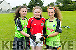Under 13's Lauren Dowling, Grace O'Brien, Ella Breen enjoying the St Pats Blennervile  Cul Camp on Tuesday