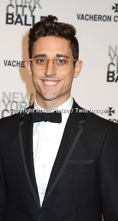 Justin Peck attends the New York City Ballet Spring 2014 Gala on May 8, 2014 at David Koch Theatre in Lincoln Center in New York City, NY, USA.