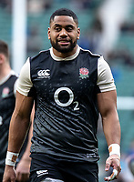 Joe Cokanasiga of England during the Guinness Six Nations match between England and Italy at Twickenham Stadium on March 9th, 2019 in London, United Kingdom. Photo by Liam McAvoy.