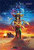 Interlitho, Jason, FANTASY, paintings, egyptian dreams, KL, KL3949,#fantasy# illustrations, pinturas