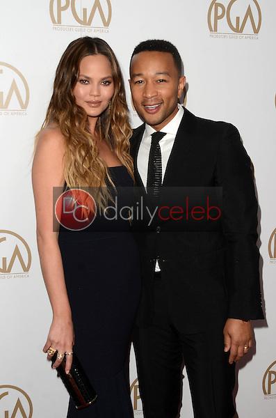 Chrissy Teigen, John Legend<br /> at the 2017 Producers Guild Awards, Beverly Hilton Hotel, Beverly Hills, CA 01-28-17<br /> David Edwards/DailyCeleb.com 818-249-4998