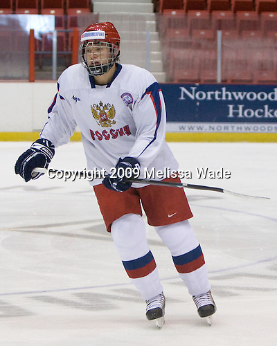 Vladimir Tarasenko (Russia - 9) - Team Russia defeated Team USA 6-4 in their third game in the 1980/Herb Brooks (international-size) Rink on Friday, August 14, 2009, during the 2009 USA Hockey National Junior Evaluation Camp in Lake Placid, New York.