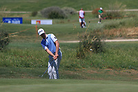 Victor Perez (FRA) on the 2nd green during Round 3 of the Rocco Forte Sicilian Open 2018 played at Verdura Resort, Agrigento, Sicily, Italy on Saturday 12th May 2018.<br /> Picture:  Thos Caffrey / www.golffile.ie<br /> <br /> All photo usage must carry mandatory copyright credit (&copy; Golffile | Thos Caffrey)