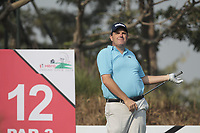 Anthony Wall (ENG) in action on the 12th during Round 2 of the Hero Indian Open at the DLF Golf and Country Club on Friday 9th March 2018.<br /> Picture:  Thos Caffrey / www.golffile.ie<br /> <br /> All photo usage must carry mandatory copyright credit (&copy; Golffile | Thos Caffrey)