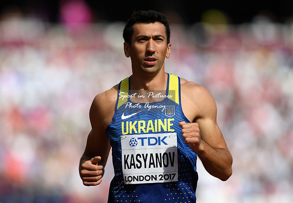 Oleksiy KASYANOV (UKR) in the mens decathlon 100m. IAAF world athletics championships. London Olympic stadium. Queen Elizabeth Olympic park. Stratford. London. UK. 11/08/2017. ~ MANDATORY CREDIT Garry Bowden/SIPPA - NO UNAUTHORISED USE - +44 7837 394578
