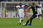 2nd November 2017, Nice, France; EUFA Europa League, Olympique Lyonnais versus Everton;  Tanguy Ndombele (lyon) challenges Morgan Schneiderlin (everton)