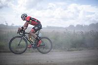 Timothy Stevens (BEL/Cibel) cornering a gravel section<br /> <br /> Antwerp Port Epic 2019 <br /> One Day Race: Antwerp > Antwerp 187km<br /> <br /> ©kramon