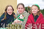 Jessica Healy, Breda Cremins and Grainne Cremins on the Scoil Ide, Curranes float in the Castleisland St Patricks Day parade on Monday   Copyright Kerry's Eye 2008