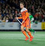 AMSTELVEEN - Jonas de Geus (Ned)   tijdens de hockeyinterland Nederland-Ierland (7-1) , naar aanloop van het WK hockey in India.  COPYRIGHT KOEN SUYK