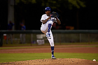 AZL Dodgers Mota relief pitcher Julian Smith (43) during an Arizona League game against the AZL Rangers at Camelback Ranch on June 18, 2019 in Glendale, Arizona. AZL Dodgers Mota defeated AZL Rangers 13-4. (Zachary Lucy/Four Seam Images)