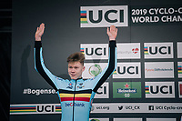 2nd place for Witse Meeussen (BEL)<br /> <br /> Men&rsquo;s Junior race<br /> <br /> UCI 2019 Cyclocross World Championships<br /> Bogense / Denmark<br /> <br /> &copy;kramon