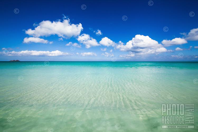 The pristine waters of Waimanalo Bay, Windward O'ahu.
