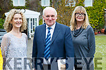 Justine McCarthy, (The Times Ireland) and Bertie Ahern and Lise Hand, The Times at the Women in Media event, in Ballybunion on Sunday last.