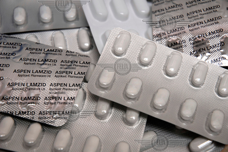 Aspen Lamzid, a generic anti-retroviral drug combination of Lamivudine and Zidovudine for the treatment of HIV/AIDS.