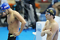 (L to R) Kosuke Kitajima (JPN), Ryo Tateishi (JPN), APRIL 2, 2012 - Swimming : JAPAN SWIM 2012 Men's 100m Breaststroke Preliminary at Tatsumi International Swimming Pool, Tokyo, Japan. (Photo by Yusuke Nakanishi/AFLO SPORT) [1090]