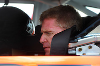 Apr 26, 2008; Talladega, AL, USA; NASCAR Sprint Cup Series driver Jeff Burton during qualifying for the Aarons 499 at Talladega Superspeedway. Mandatory Credit: Mark J. Rebilas-US PRESSWIRE