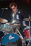 Slim Jim Phantom of the Stray Cats with Mike Peters at the 2010 Union County Music Festival, Clark, NJ.