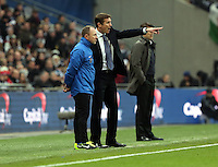Pictured:  Phil Parkinson (C). Sunday 24 February 2013<br /> Re: Capital One Cup football final, Swansea v Bradford at the Wembley Stadium in London.