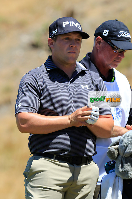 Daniel Summerhays (USA) on the 8th tee during Friday's Round 2 of the 2015 U.S. Open 115th National Championship held at Chambers Bay, Seattle, Washington, USA. 6/19/2015.<br /> Picture: Golffile | Eoin Clarke<br /> <br /> <br /> <br /> <br /> All photo usage must carry mandatory copyright credit (&copy; Golffile | Eoin Clarke)