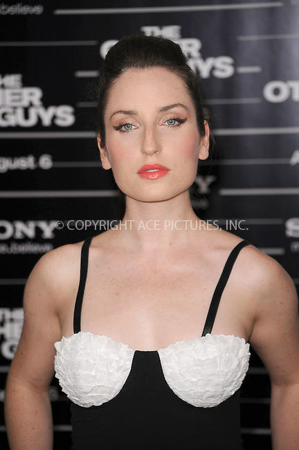 WWW.ACEPIXS.COM . . . . . .August 2, 2010, New York City.... Zoe Lister at The New York premiere of 'The Other Guys' at the Ziegfeld Theatre on August 2, 2010 in New York City....Please byline: KRISTIN CALLAHAN - ACEPIXS.COM.. . . . . . ..Ace Pictures, Inc: ..tel: (212) 243 8787 or (646) 769 0430..e-mail: info@acepixs.com..web: http://www.acepixs.com .