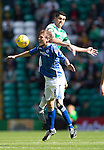 Celtic v St Johnstone...29.08.15  SPFL   Celtic Park<br /> Murray Davidson loses out to Nir Bitton<br /> Picture by Graeme Hart.<br /> Copyright Perthshire Picture Agency<br /> Tel: 01738 623350  Mobile: 07990 594431