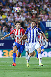 Deportivo Alaves's Gaizka Krsticic de Madrid's Tiago Mendes during the match of La Liga Santander between Atletico de Madrid and Deportivo Alaves at Vicente Calderon Stadium. August 21, 2016. (ALTERPHOTOS/Rodrigo Jimenez)